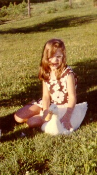 third-grade author with Flower, 1970